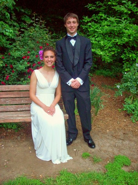 Brandalyn and David at prom in 2008
